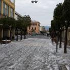 Centro di Diano Marina dopo nevicata (Ph: Giuliano Tavernelli)